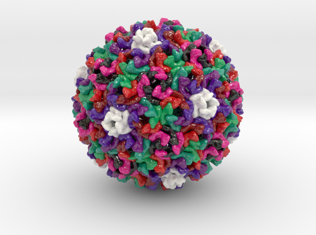 Ty3 Retrotransposon Capsid (Large) in Glossy Full Color Sandstone
