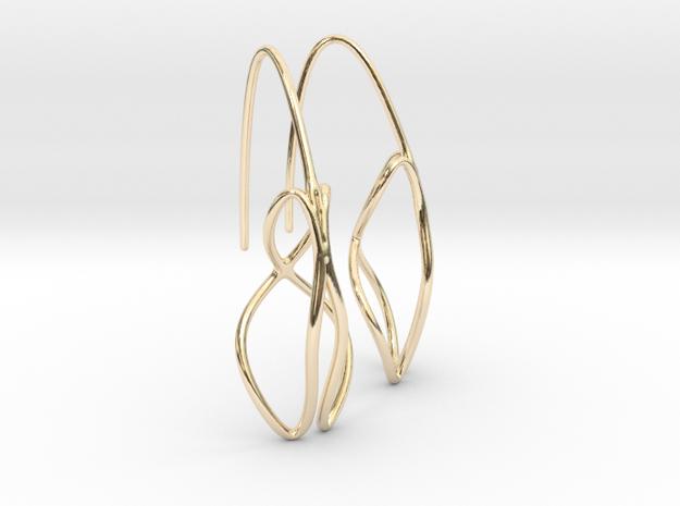 Anura earring pair in 14K Yellow Gold