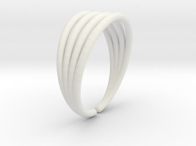 Line ring in White Natural Versatile Plastic
