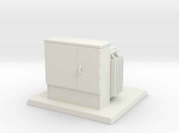 Padmount Transformer 01. 1:72 Scale in White Natural Versatile Plastic