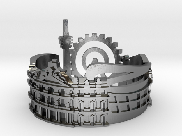 Stuttgart Skyline - Cityscape Ring in Polished Silver: 9 / 59