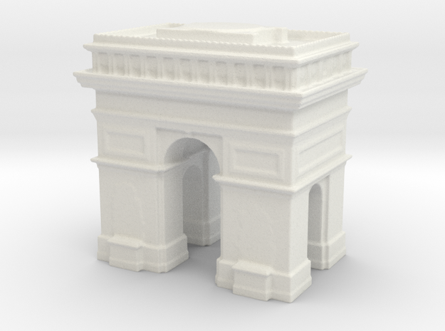 Arc de Triomphe 1/720 in White Natural Versatile Plastic