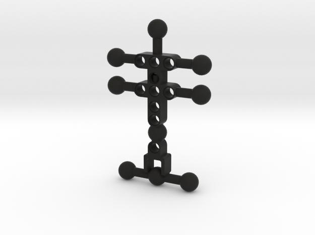 4 armed Bionicle(CCBS) Body in Black Natural Versatile Plastic