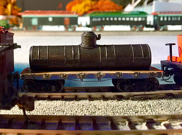 N Scale 19th Century Oil Tank Car in Smooth Fine Detail Plastic