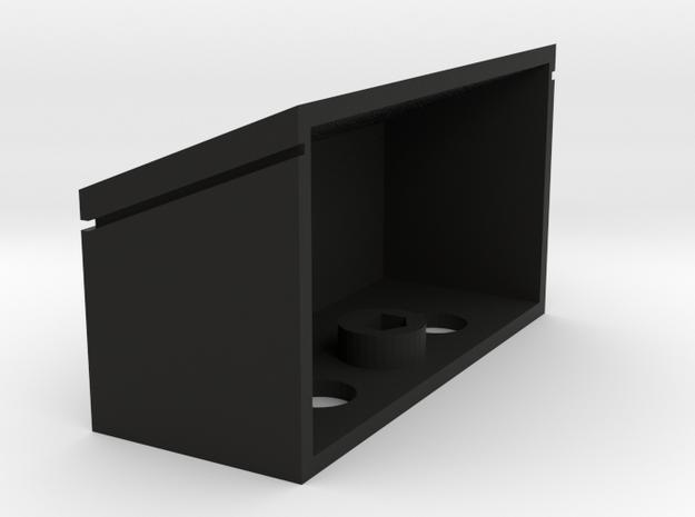 UDB005 Drawbar top Box in Black Natural Versatile Plastic