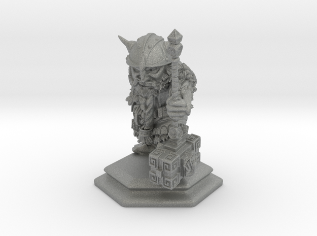 Dwarf Warrior / Fighter / Barbarian in Gray PA12