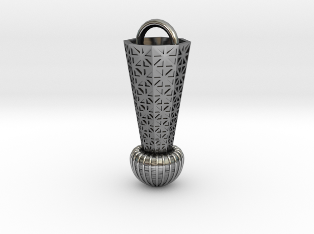 Tesla_Tower in Antique Silver