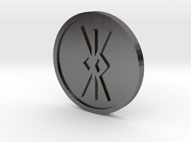 Kalk [kk] Coin (Anglo Saxon) in Polished Nickel Steel
