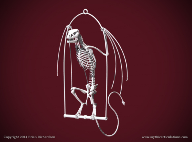 Wyvern Skeleton with Hanging Perch