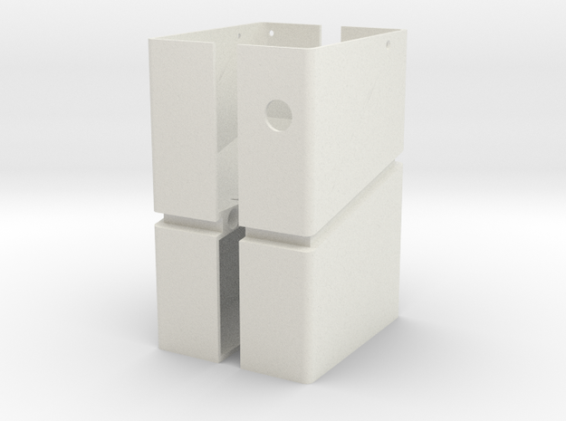 M60 Mk43 Box Mag Flash Mag Template in White Natural Versatile Plastic