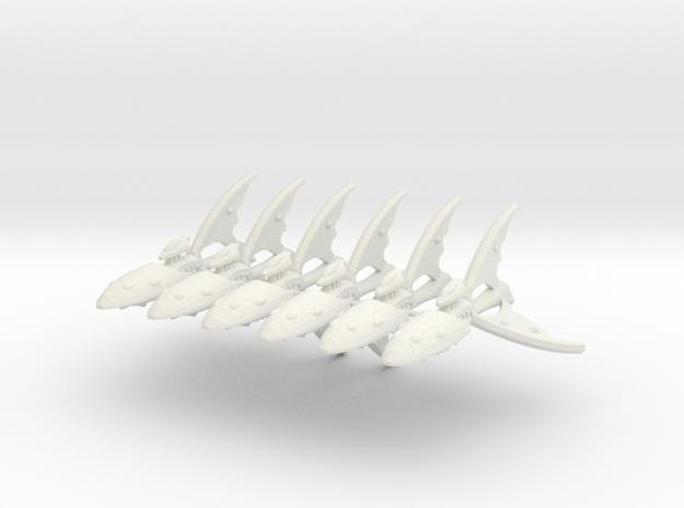 Cazador de Sombras x6 in White Natural Versatile Plastic