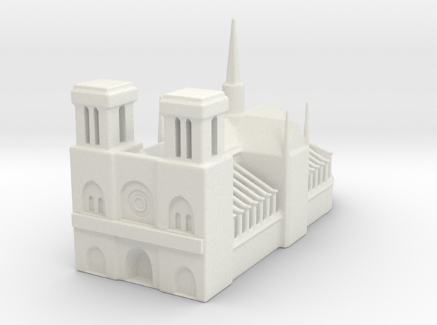 Notre Dame de Paris 1/1000 in White Natural Versatile Plastic
