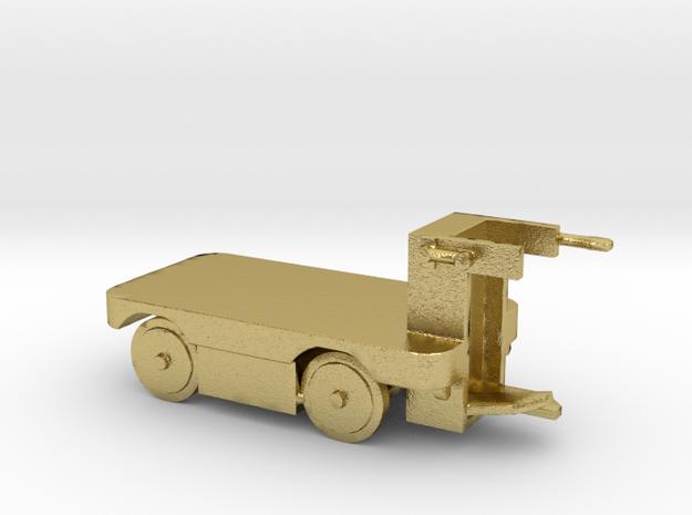 E-Karren Flachwagen Messing - 1:120 TT