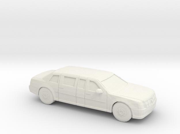 1/76 2009 Cadillac Presidential State Car in White Natural Versatile Plastic