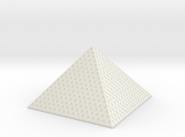 Louvre Pyramid 1/720 in White Natural Versatile Plastic