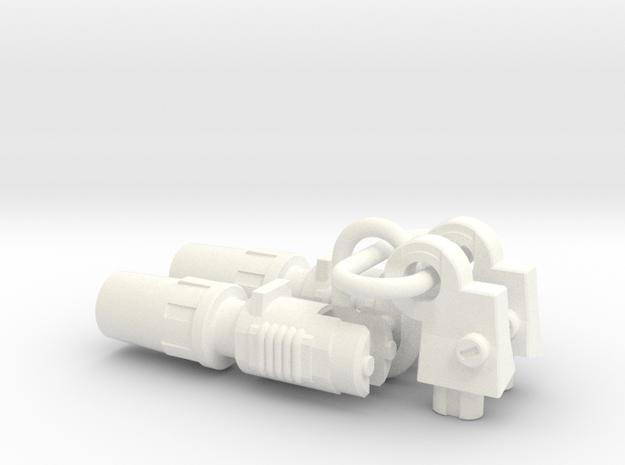 Silverblue Daemon's shoulder rocket launchers in White Processed Versatile Plastic