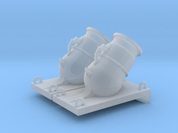 1/36 Mortier de 12£ -1765- X2 in Smooth Fine Detail Plastic
