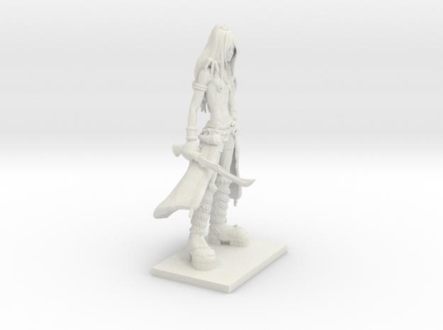 Fantasy Figures 13 - Warrior in White Natural Versatile Plastic