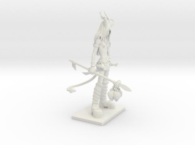 Fantasy Figures 19 - Tiefling in White Natural Versatile Plastic