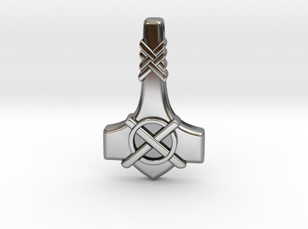 Thor's Hammer Mjolnir  - Type-1 in Antique Silver