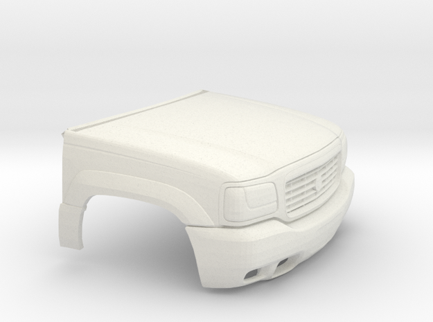 1/25 1999-01 Cadillac Escalade Front in White Natural Versatile Plastic