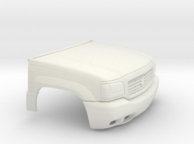 1/25 1999-01 Cadillac Escalade Front in White Natural Versatile Plastic