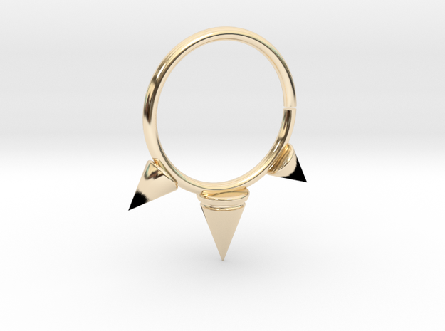 Triple Spike Seam Ring in 14K Yellow Gold