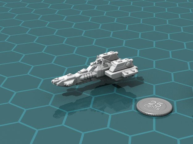 Union Missile Cruiser in White Natural Versatile Plastic