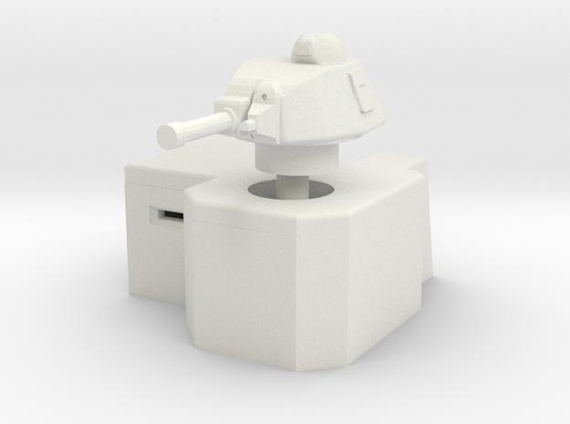 Bunker with Somua S35 turret 1/76 in White Natural Versatile Plastic