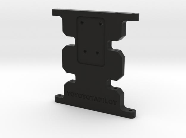 SCX10-1 Skid plate high clearance in Black Natural Versatile Plastic