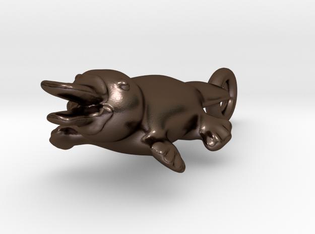 Platypus Neclace in Polished Bronze Steel
