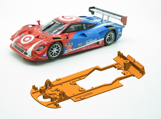 PSSX00901 Chassis for Scalextric Ford Daytona Prot in White Natural Versatile Plastic