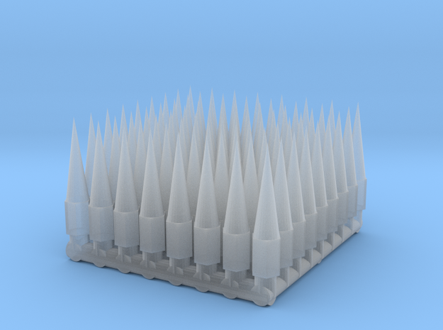 1/24 - 1/25 Spiked Lug nuts in Smooth Fine Detail Plastic
