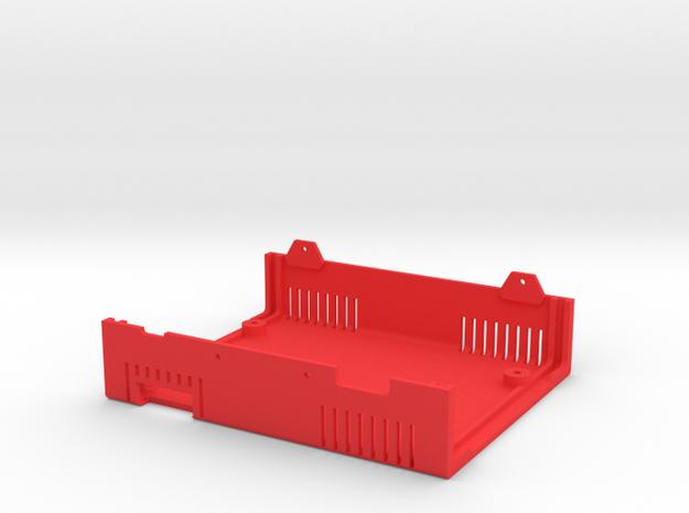 MiSTer Case Universal v5.x Bottom Shell (2/4) in Red Processed Versatile Plastic