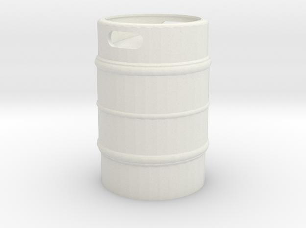 Beer Keg 1/24 in White Natural Versatile Plastic