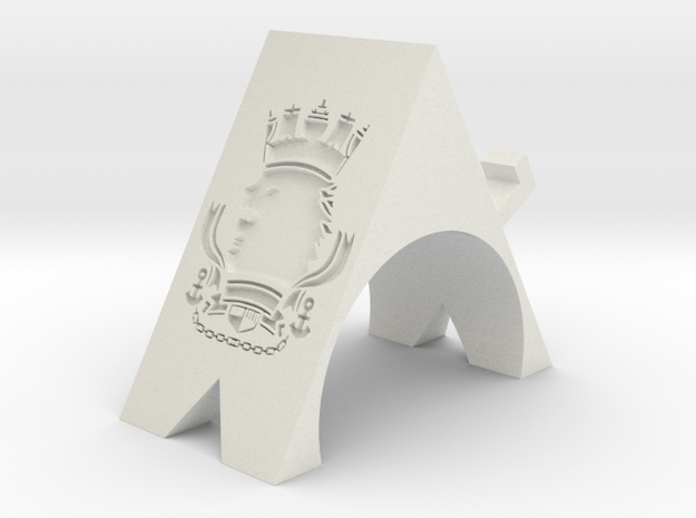 Royal Navy Phone Stand in White Natural Versatile Plastic: Small