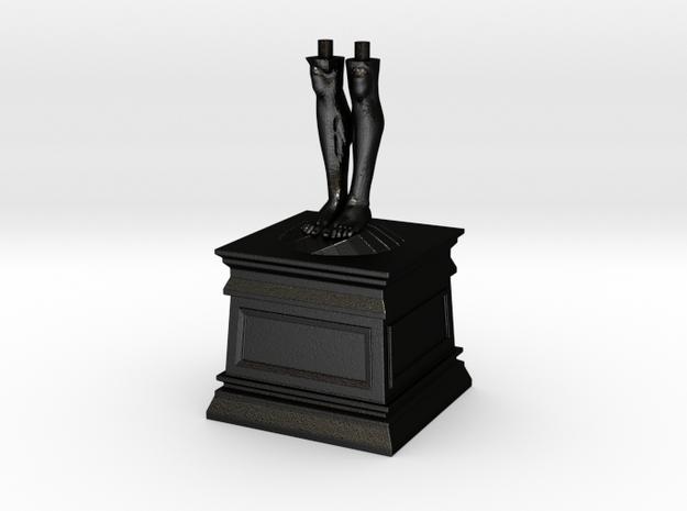 Daniel 2 Statue - Rome -  Legs of Iron in Matte Black Steel