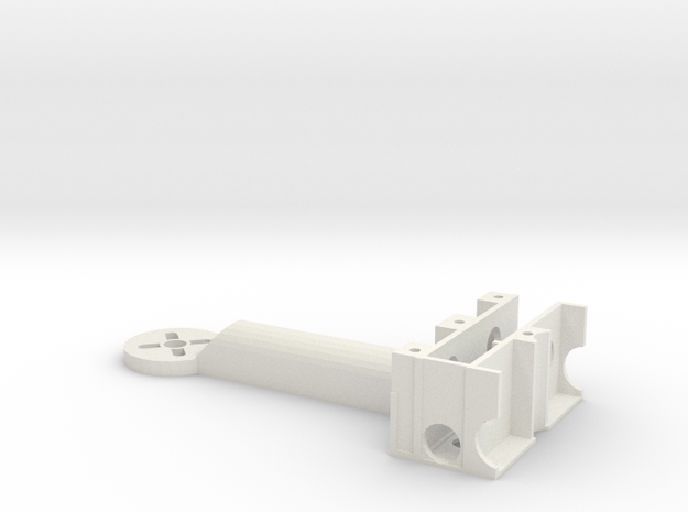 UFO-ARM-112mm in White Natural Versatile Plastic