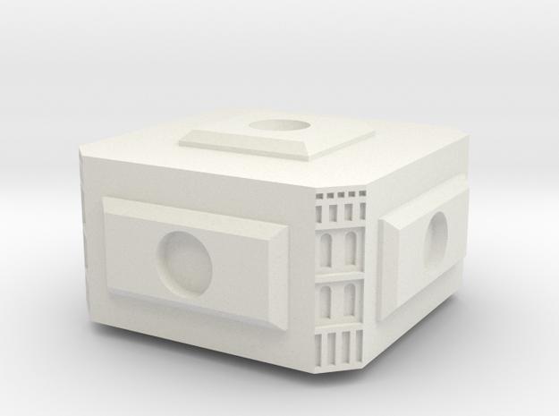 Modular Space Station Small Core Module in White Natural Versatile Plastic