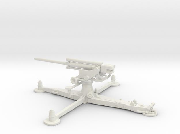1/87 IJA Type 4 75mm Anti-aircraft Gun in White Natural Versatile Plastic