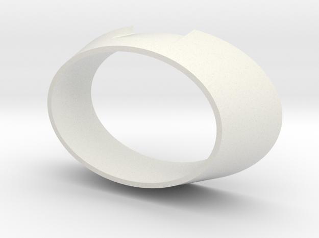 DEFLECTOR DISH HOUSING REV C in White Natural Versatile Plastic