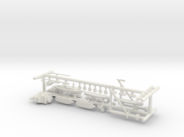1/350 1919 US Small Battleship Design A7 Fittings in White Natural Versatile Plastic