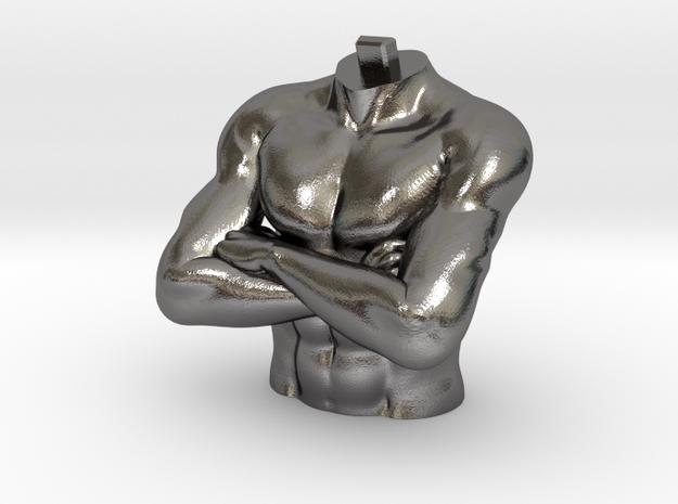 Daniel 2 Statue - Medo-Persian Chest in Polished Nickel Steel