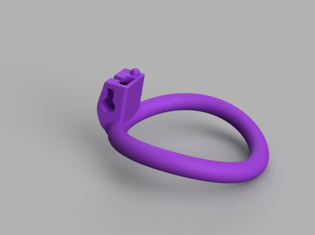 Cherry Keeper Wide Oval Ring - 56mmx51mm in Purple Processed Versatile Plastic