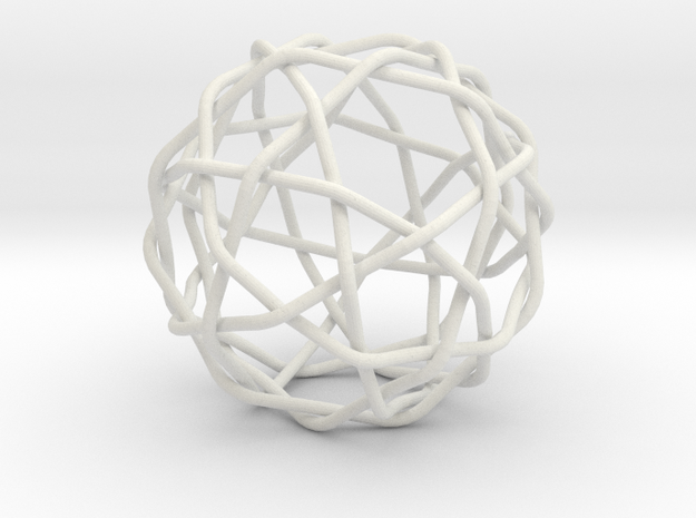 Knotty fullerene in White Natural Versatile Plastic