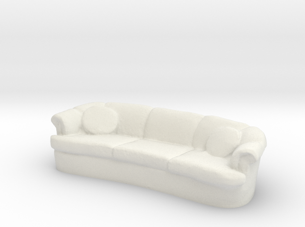 Sofa 1/43 in White Natural Versatile Plastic