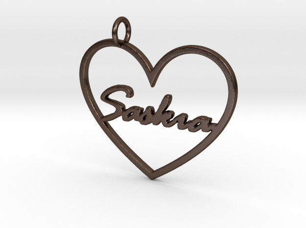 "Key Tag ""Saskia"" in Polished Bronze Steel"