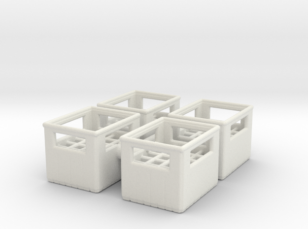 Bottle Crate (4 pieces) 1/35 in White Natural Versatile Plastic