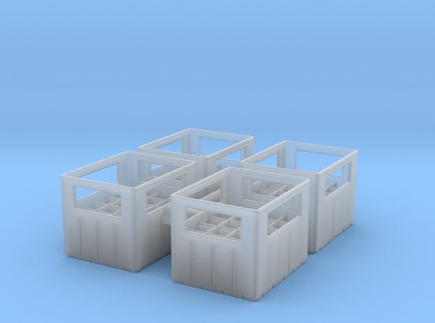 Bottle Crate (4 pieces) 1/43 in Smooth Fine Detail Plastic