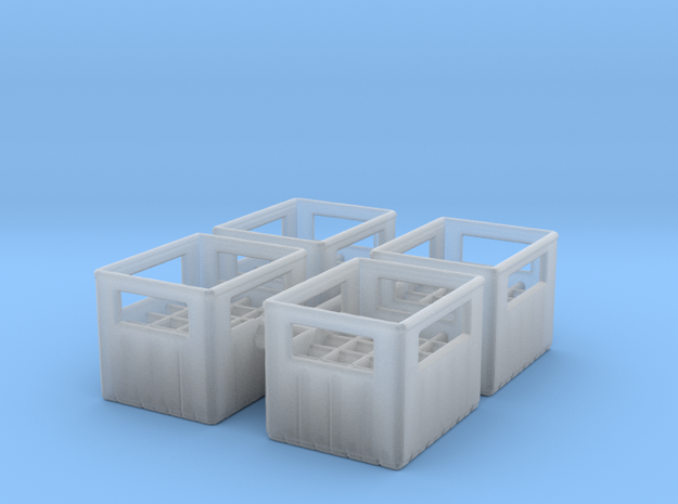 Bottle Crate (4 pieces) 1/76 in Smooth Fine Detail Plastic